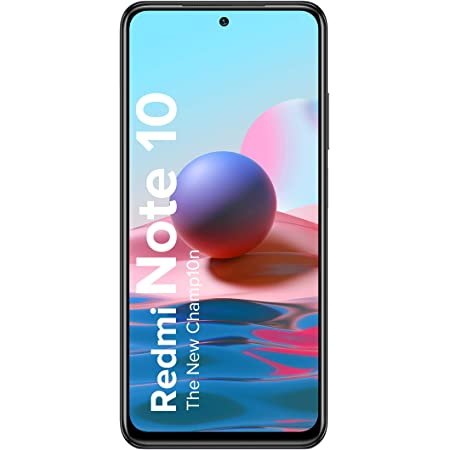 Redmi Note 10 (Shadow Black, 6GB RAM, 128GB Storage) - Super Amoled Display | 48MP Sony Sensor IMX582 | Snapdragon 678 Processor