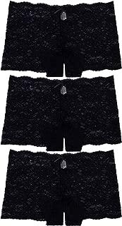 3 Pack of Women's Regular & Plus Size Lace Boyshort Panties