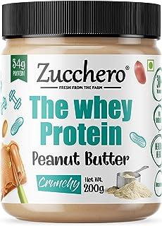 Zucchero Whey Protein Peanut Butter, Crunchy, 200g | Protein: 34g