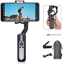 Hohem iSteady X, 3-Axis Foldable Lightweight Gimbal Stabilizer, Which is only 0.57Lbs, Supports Moment/Auto-Inception Mode, and is Compatible with iPhone 11 pro max and Smartphones (0.57Lbs, Black)