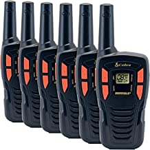 COBRA CX190-6 6 Pack Walkie Talkies - Rechargeable, Long Range 16-Mile Two Way Radio Set with 22 Channels (7 GMRS/FRS, 7 FRS, and 8 GMRS) (6 Pack)