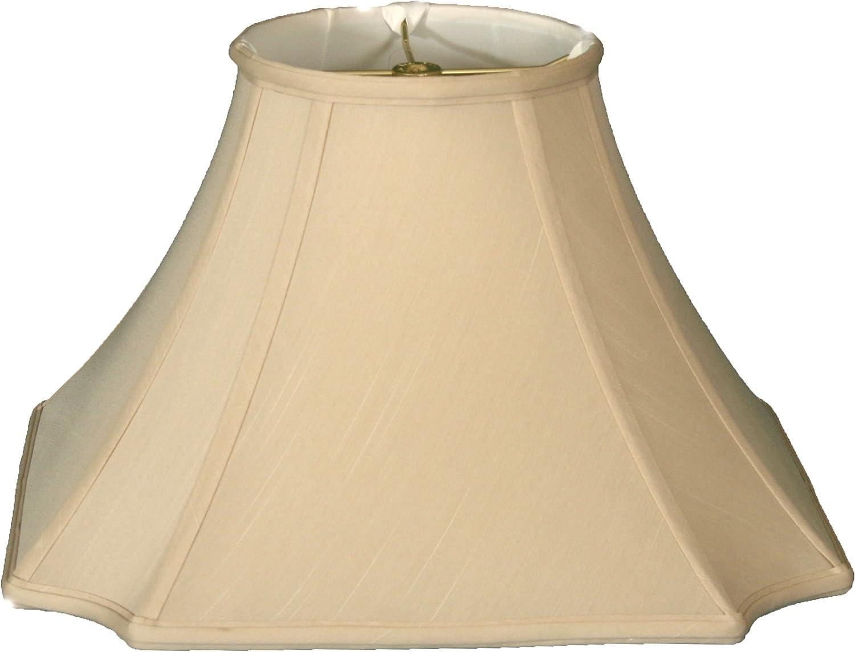 Royal Designs Square Ingreened Cut Corner Basic Lamp Shade, Beige, 5 x 10 x 8