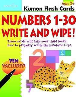 Numbers 1-30 Write & Wipe Flash Cards (Kumon Flash Cards)