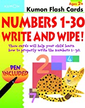 Numbers 1-30 Write & Wipe Flash Cards (Kumon Flash Cards)