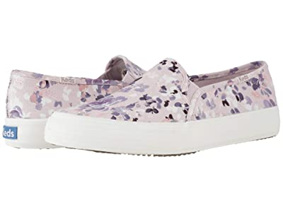 Keds Double Decker Floral (Light Lilac Twill) Women