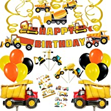 Construction Party Supplies Happy Birthday Party Decorations (Construction Theme with Dump Truck Balloon)