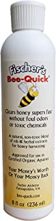 Fischer's Bee Quick Bee Repellent for Removing Honey Bees from Beekeping Equipment in a Safe and Organic Way (8 oz Bottle)