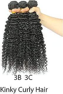 Afro Kinky Curly Hair Weave 4B 4C 100% Natural Human Hair Bundles Extension,10 12 14,Pink