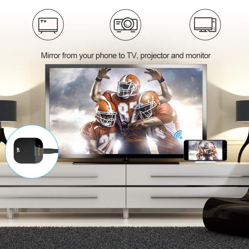 Wireless WiFi Display Dongle, HDMI 1080P Receptor Reproductor de ...