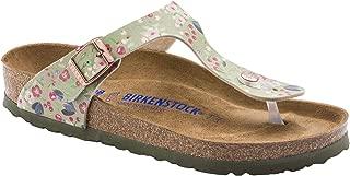 Birkenstock Unisex Gizeh Soft Footbed Birko-Flor - Khaki Sandals 7 W/5 M US