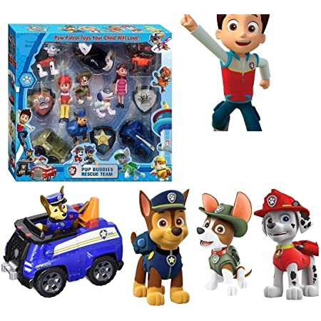 Tread Mall� �13 in 1 Power Patrol Pup Buddies Hero, Action Pack Pup & Badge, Ryder, Tracker, Robot Dog, Everest, Team Mission Toy Pretend Play Set for Kids
