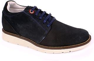 Max Denegri Zapato Casual Avenue Azul 7cms De Altura
