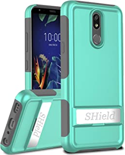 OTOONE Case for LG K40 X420/LG Solo LTE L423DL/LG Harmony 3/LG X4 2019/LG K12 Plus, [Horizontal Stand] Dual Layers Shockproof with Rugged PC and Soft Silicon Bumper Protective Phone Cover Turquoise