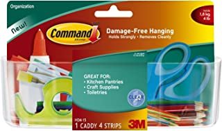 Command Large Caddy, Clear, 2-Caddy