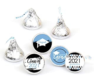 Big Dot of Happiness Light Blue Grad - Best is Yet to Come - Light Blue 2020 Graduation Party Round Candy Sticker Favors -...