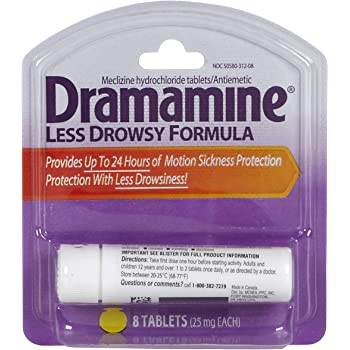 Dramamine Less Drowsy Formula 25mg Tablets-8 ct