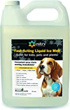 Branch Creek Entry Chloride-Free, Non-Toxic, Liquid Snow and Ice Melt Safer for Pets, Plants, Floors, Concrete, Sidewalks, and Metal for Residential or Commercial Use (1 Gallon)