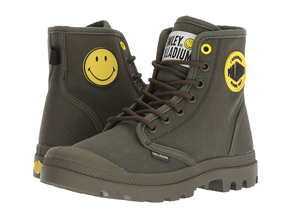 Palladium Pampa Smiley Festbag (Olive Night) Lace up casual Shoes