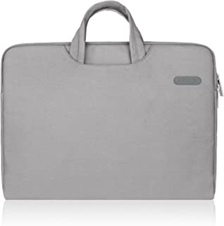Arvok 16 17 17.3 Inch Water-resistant Canvas Fabric Laptop Sleeve With Handle & Zipper Pocket/Notebook Computer Case/Ultrabook Tablet Briefcase Carrying Bag/Pouch Skin Cover For Acer/Asus/Dell/HP,Gray