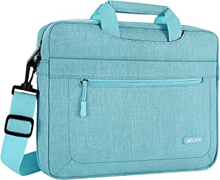 MOSISO Laptop Shoulder Bag Compatible with 13-13.3 Inch MacBook Air (Including 2018),MacBook Pro,New MacBook Pro USB-C with Adjustable Depth at Bottom,Polyester Messenger Briefcase Sleeve,Hot Blue