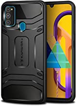 KAPAVER® Samsung Galaxy M21/M30s Rugged Back Cover Case MIL-STD 810G Officially Drop Tested Solid Black Shock Proof Slim Armor Patent Design