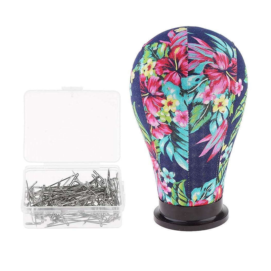 かわいらしい電卓移行するT TOOYFUL キャンバスヘッド マネキンヘッド 帽子 メガネ スカーフ 宝石類 展示 約100本tピン付き
