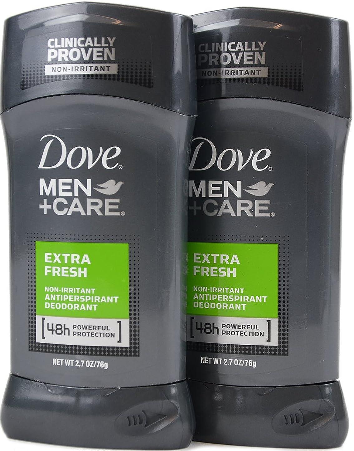 マントルバーチャル消去Dove Men+Care ダヴ メンズ 固形デオドラント スティック エクストラ フレッシュ 76g×2個[並行輸入品]