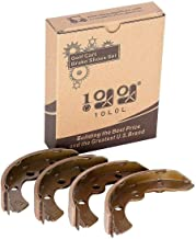10L0L Golf Cart Replacement Brake Shoes Set (2 Front, 2 Rear) Fits Select Club Car, E-Z-GO and Yamaha Models
