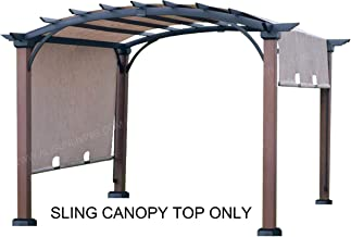 ALISUN Sling Canopy (with Ties) for The Lowe's Allen + roth 10 ft x 10 ft Tan/Black Material Freestanding Pergola #L-PG152PST-B