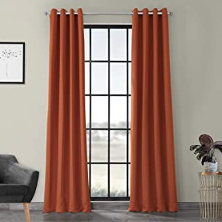 HPD HALF PRICE DRAPES BOCH-201304-120-GR Grommet Blackout Room Darkening Curtain, 50 X 120, Blaze