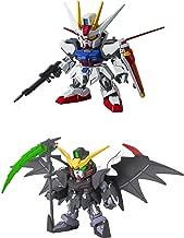 2 Bandai SD EX-Standard Gundam Action Figure Assembly Models - Deathscythe Hell EW and Aile Strike (Japan Import)