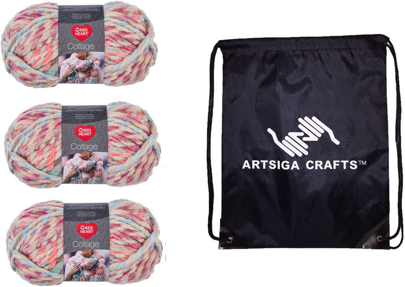 Red Heart Knitting Yarn At the price of surprise Collage Pack Factory 3-Skein Dollhouse 25% OFF