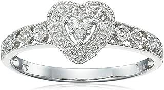 10k Gold Diamond Heart Ring (0.04 cttw, I-J Color, I2-I3 Clarity)