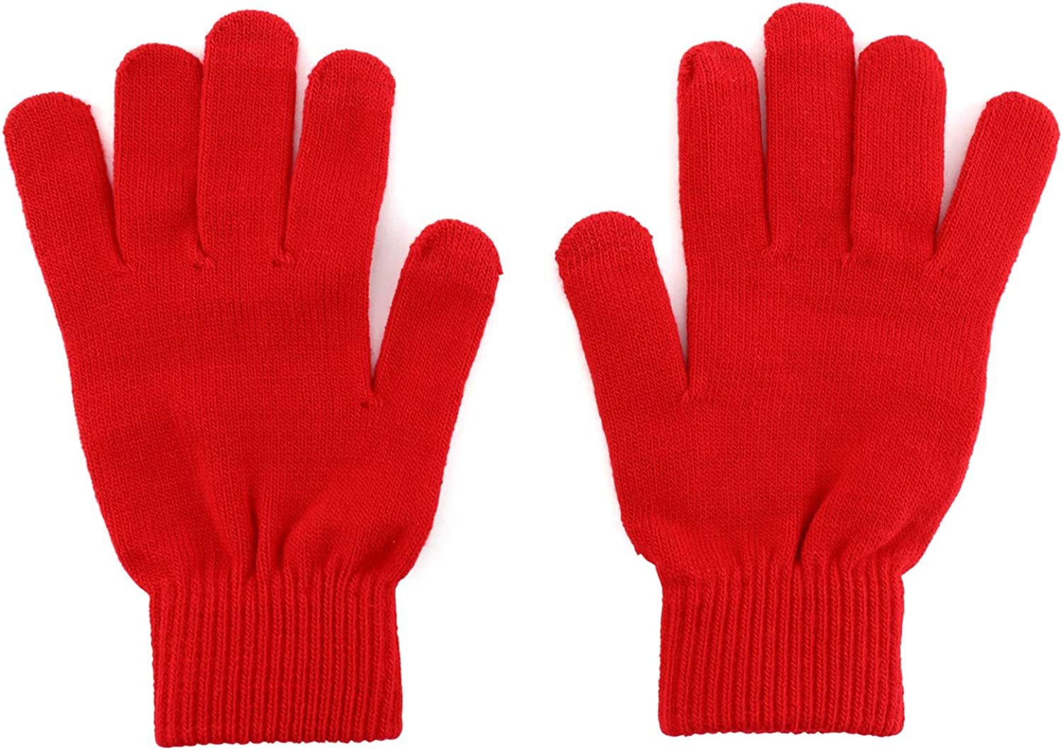 Trendy Apparel Shop Touchscreen Friendly Knit Texting Finger Gloves