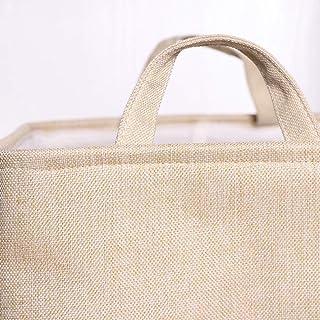 ZJMM Boîte de Rangement Panier de Rangement en Tissu Simple Vêtements pour la Maison Panier de Rangement pour Jouets avec ...
