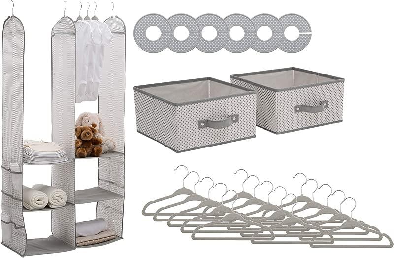 Delta Children 24 Piece Nursery Storage Set Cool Grey