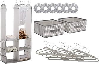 Delta Children 24 Piece Nursery Storage Set - Cool Grey, Cool Grey