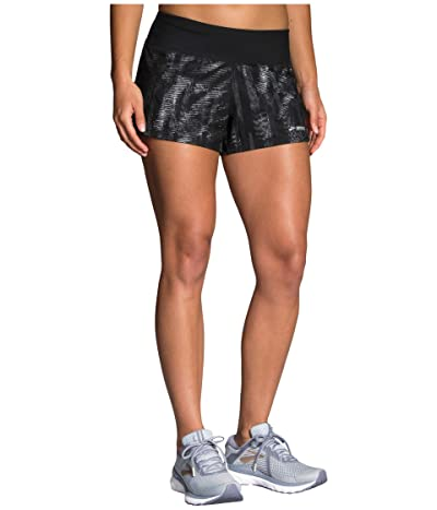 Brooks Chaser 3 Shorts (Black Motion Print/Black) Women