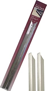 Vance Long Stainless Steel Counter Trim Kit for Backless or Slide-in Stoves, 23-3/4 (2-Pack), CTK-LS
