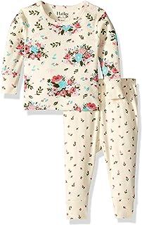 Baby Girls' Organic Cotton Long Sleeve Mini Pajama Sets