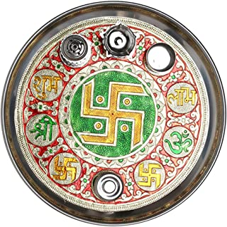 Aditri Creation Pooja thali swastik