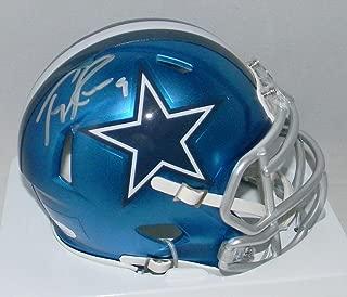 Signed Tony Romo Mini Helmet - Blaze Speed - JSA Certified - Autographed NFL Mini Helmets