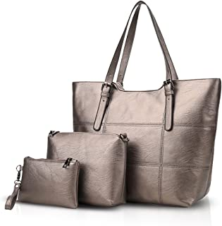 NICOLE&DORIS Mode Damen Handtaschen Umhängetasche Schultertaschen Henkeltaschen Messenger Bag 3PCS Tasche Wasserdicht Daue...