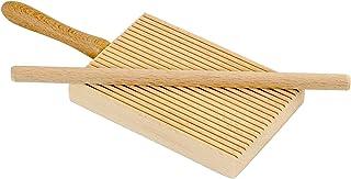 Home ELETTRO CENTER Item 298Ridged Gnocchi Board and Garganelli Pasta Rod, Wooden, Beige