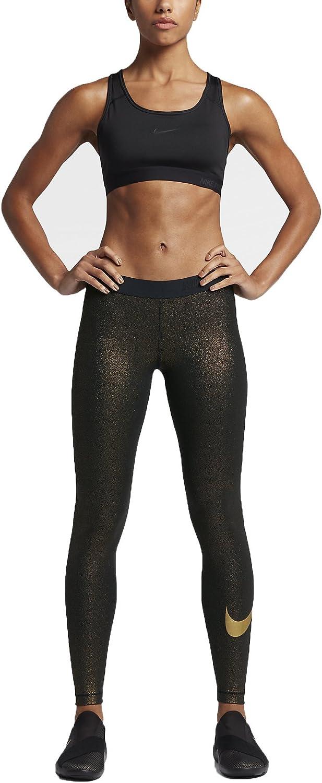 Nike Damen Pro Cool Tight Gold Netze