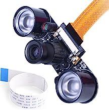 kuman for Raspberry PI Camera Module 5MP 1080p OV5647 Sensor HD Video Webcam Supports Night Vision for Raspberry Pi Model ...