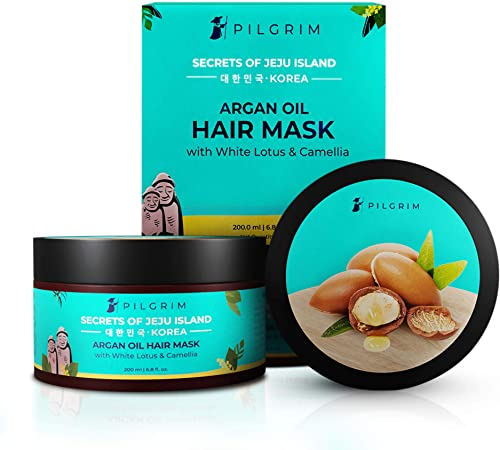 Pilgrim Hair Mask, Spa and Pack (Argan Oil) Treats Damaged, Dry and Frizzy Hair, for Hair Growth and Hair Fall Contro...
