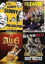 Top Notch SHENANIGANS - It's Always Sunny In Philadephia Season 1 & 2 Reno 911 Most Wanted + The League Season one Fantasy Football & Da Ali G Show Comedy TV Blast 4 Pack
