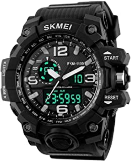Smael Analogue Digtal Dual Quartz Movement Military Design Water Resistant Sports Men's Watch -1642