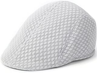 LONGren Middle-Aged and Old Beret Cap Thin Section Mesh Breathable Cool Cap Men's Summer Leisure Visor (Color : C)